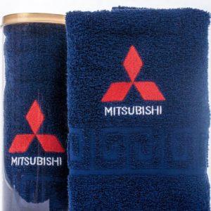 Подарочное полотенце в тубе MITSUBISHI