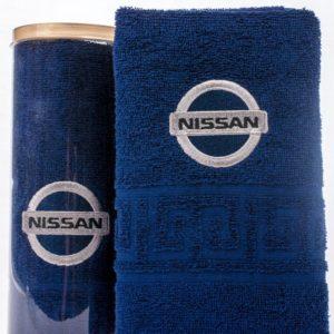 Подарочное полотенце в тубе NISSAN