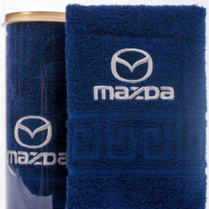 Подарочное полотенце в тубе MAZDA