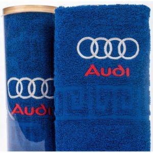 Подарочное полотенце в тубе AUDI
