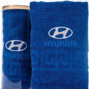 Подарочное полотенце в тубе HYUNDAI