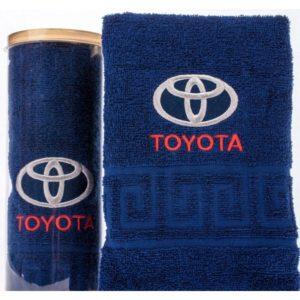 Подарочное полотенце в тубе TOYOTA