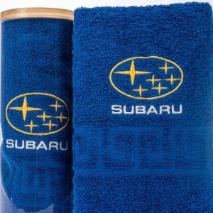 Подарочное полотенце в тубе SUBARU