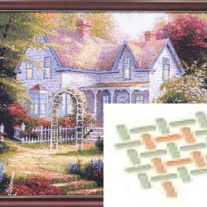 Картина гобеленовая «Дом с аркой»