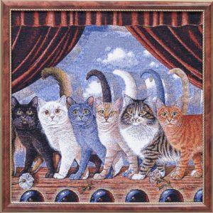 Картина гобеленовая «Канкан по кошачьи»