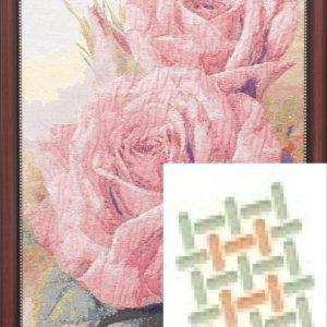 Картина гобеленовая «3D три розы»