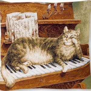Подушка гобеленовая «Румянцев теплые клавиши»