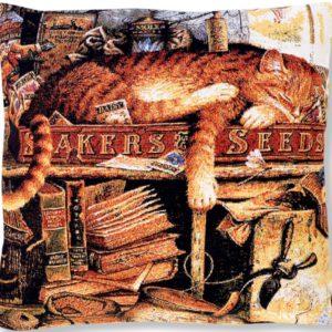 Подушка гобеленовая «Кот рыбак»
