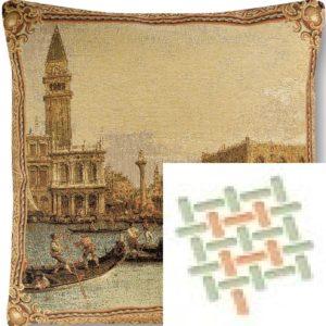 Подушка гобеленовая «Венеция гондольеры»