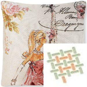 Подушка гобеленовая «Цветущий Париж»