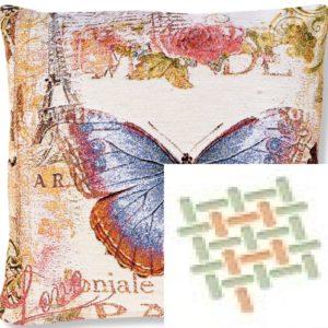 Подушка гобеленовая «Цветущий Париж бабочка»