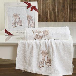Комплект махровых полотенец «LUCENTE» ELEN