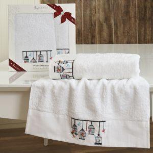 Комплект махровых полотенец «LUCENTE» KATİA