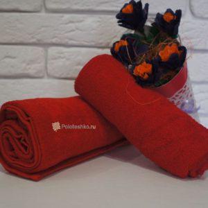 Махровое полотенце без бордюра 100×150 см.
