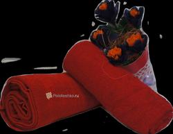 Махровое полотенце без бордюра 40×70 см.