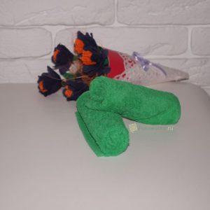 Махровая салфетка «Осибори» зеленая