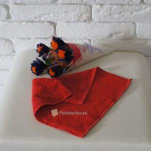 Махровая салфетка «Осибори» красная