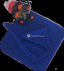 Махровая салфетка «Осибори» темно-синяя