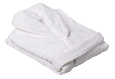 Махровый халат белый унисекс, размер L
