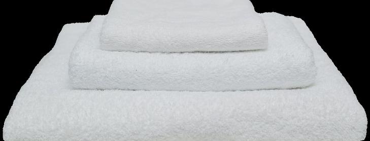 Полотенце белое 400 гр/м2 без бордюра 50х100 см.